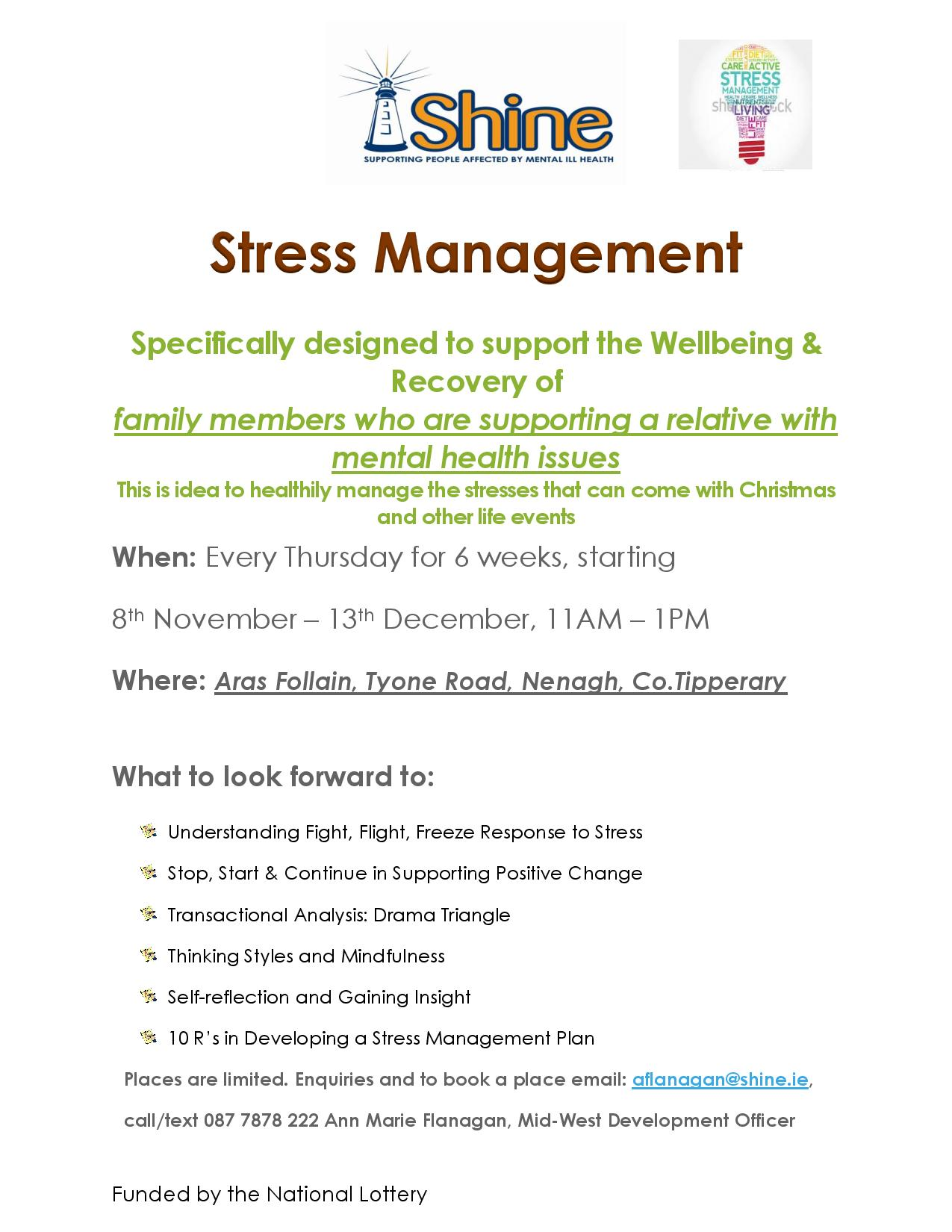 Stress Management Course In Nenagh Co Tipperary
