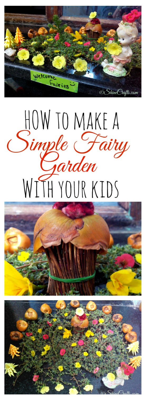 Simple Fairy Garden with Kids