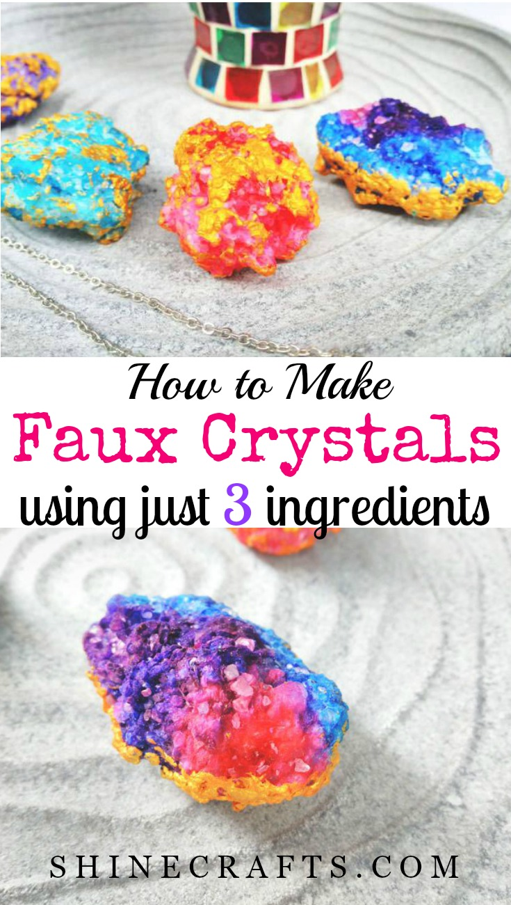 Learn how to DIY Faux Crystals using just 3 ingredients