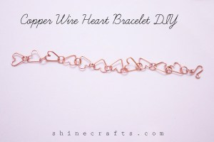 Copper Wire Heart Bracelet - Shine Crafts
