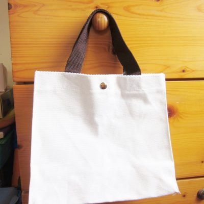 canvas bag tote bag button