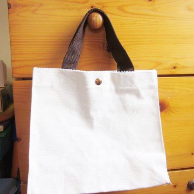 canvas bag tote bag button