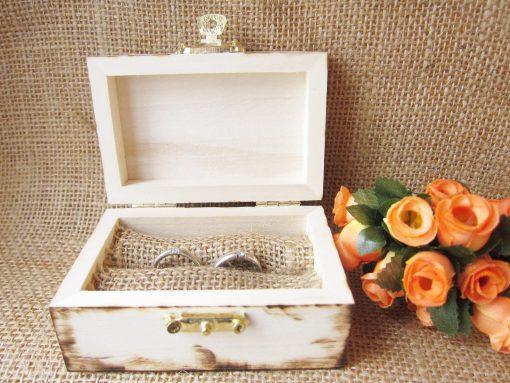 wedding ring box gunny