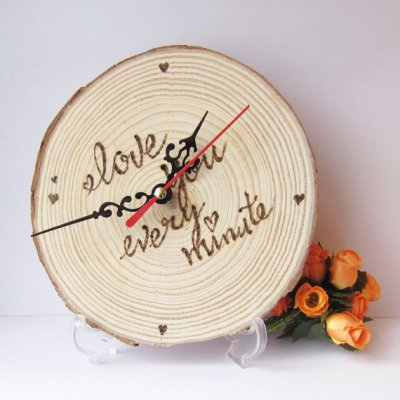 wood clock2 wedding gift