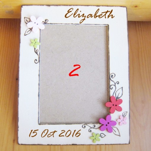 wedding photo frame flower