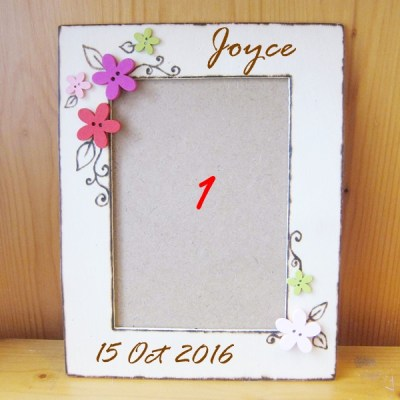 wedding photo frame flower4