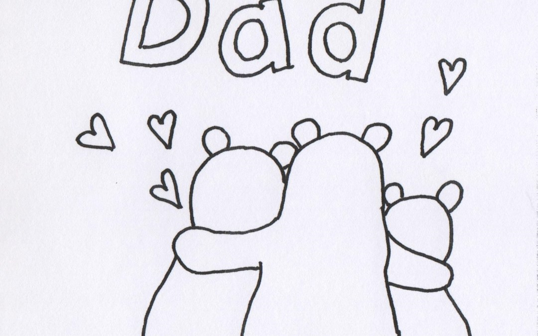 Fathers Day Coloring Page – Bear Family, Free Printable