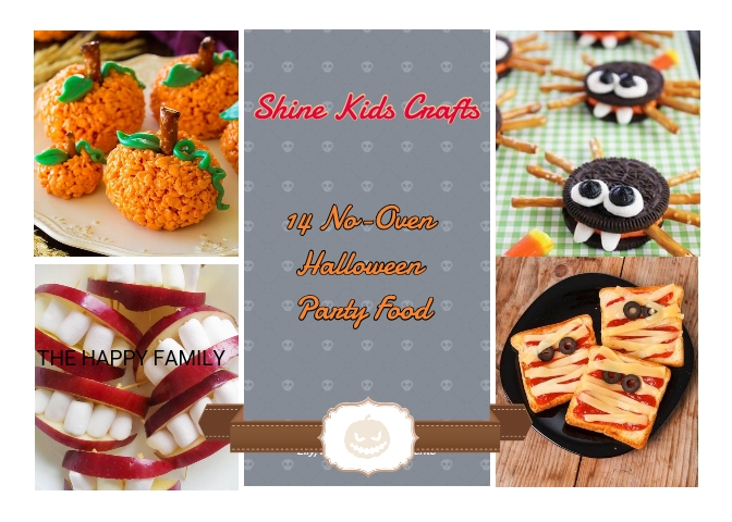 14 No-Oven, Easy and Cute Halloween Party Food Ideas