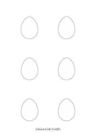 Free Printable Kids Simple Drawing / Coloring – Easter Eggs