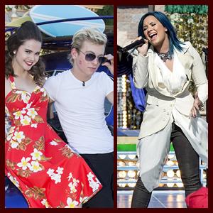 """Teen Beach Movie"" Cast, Demi Lovato & Dove Cameron Perform for Disney Christmas Parade"