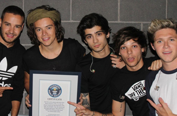 One Direction & Miley Cyrus Land in the Guinness Book of World Records