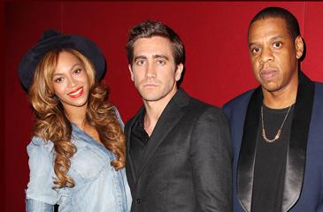 Jake Gyllenhaal Celebrates 'Nightcrawler' Premiere with Beyonce & Jay Z