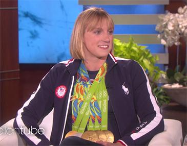Katie Ledecky Shows Off Fancy Footwork on Ellen