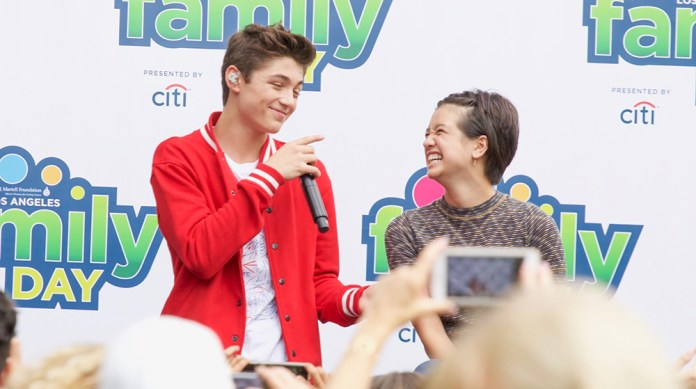 Asher Angel Serenades Co-Star Peyton Elizabeth Lee at TJ Martell Family Day LA and Our Hearts Are Melting