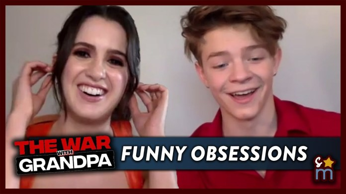 Laura Marano & Oakes Fegley Talk 'The War with Grandpa' & Reveal Their Funniest Obsessions