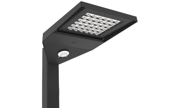lsi industries slm led series dlc qualified slice medium led outdoor area light fixture dimmable