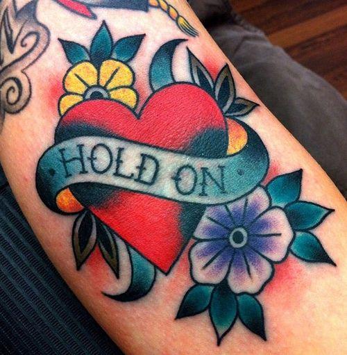 cuore old school tattoo