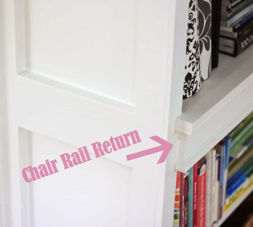 chair rail end cap stacking cafe chairs creating a return shine your light