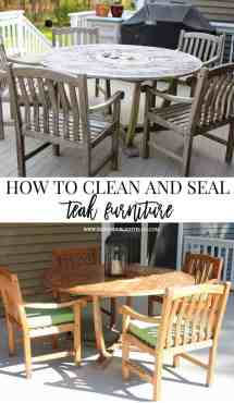 cleaning & sealing outdoor teak