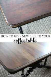 Refinishing A Coffee Table - Shine Your Light