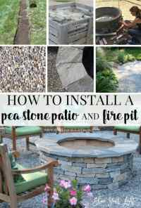 How To DIY A Fire Pit & Pea Stone Patio, Start To Finish ...