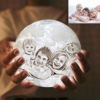 Personalisiert Mond Lampe Mit Bild   Zwei Farbtöne