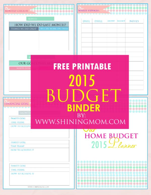 Printable Family Budget Binder