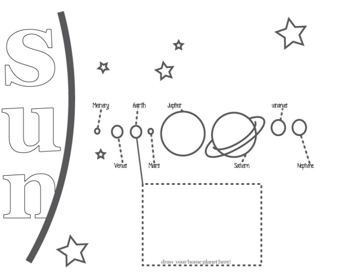 free prinatble solar system coloring sheet