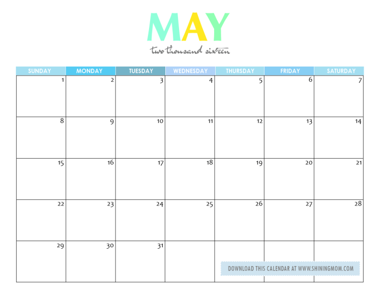 free-printable-may-2016- ...