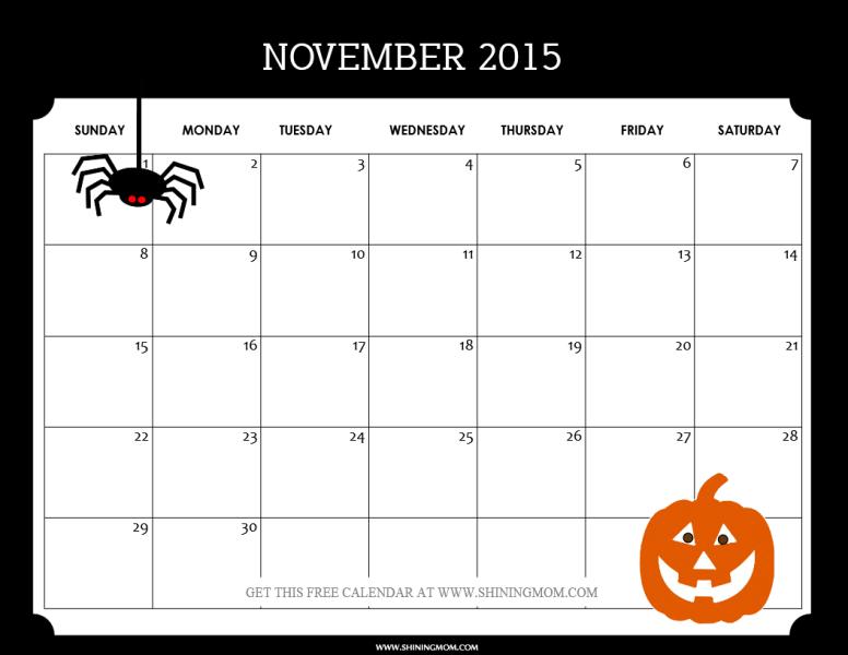 Print Off Calendar November 2015 | Ipad Calendar App You Can Write On