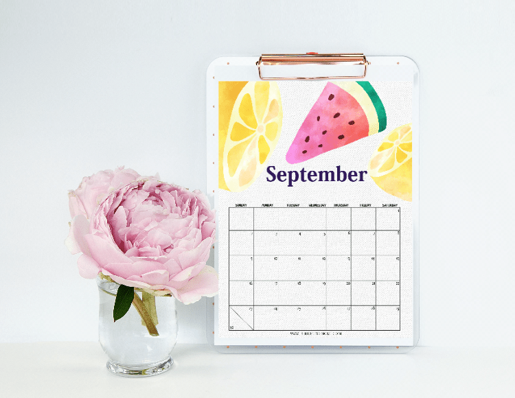 Beautiful September Calendars for FREE Download!
