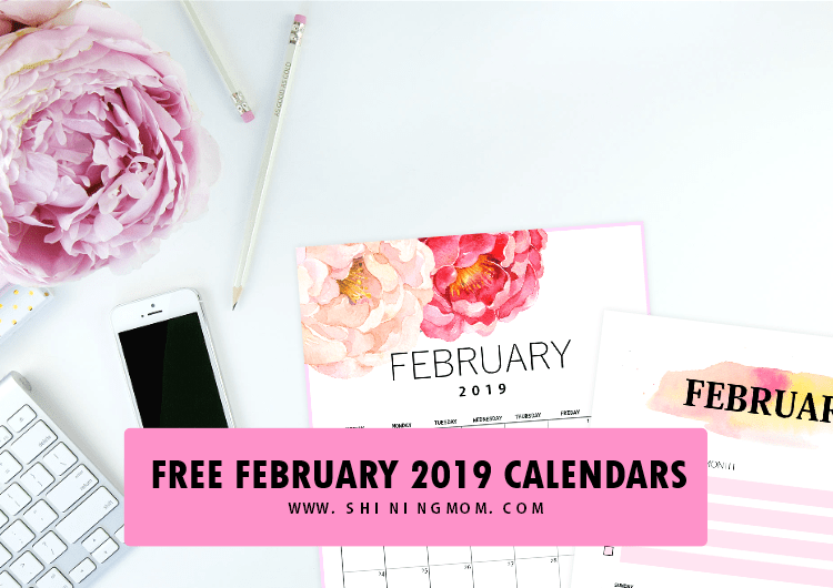 free 2019 february calendar