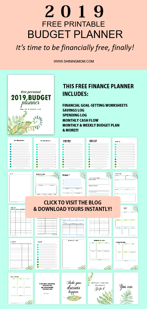 budget planners templates