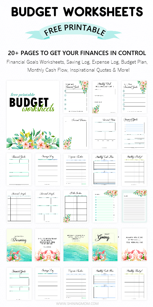 Printable Budget Worksheet 20 Free Tools To Be