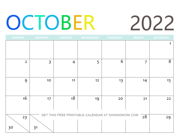 2022 Free Printable Calendars
