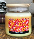 Candy Corn Halloween Candle
