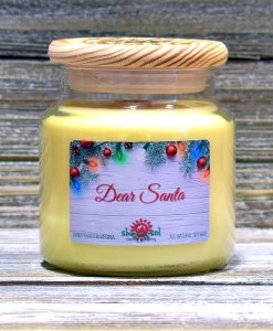 Dear Santa - Large Candle