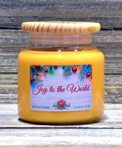 Joy to the World - Large Candle