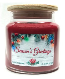 Season's Greetings - Large Jar Candle