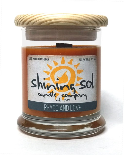 Peace and Love - Medium Candle