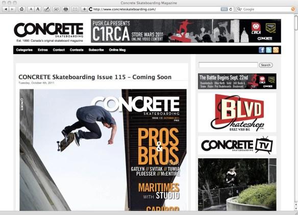 Concrete Skateboarding Magazine