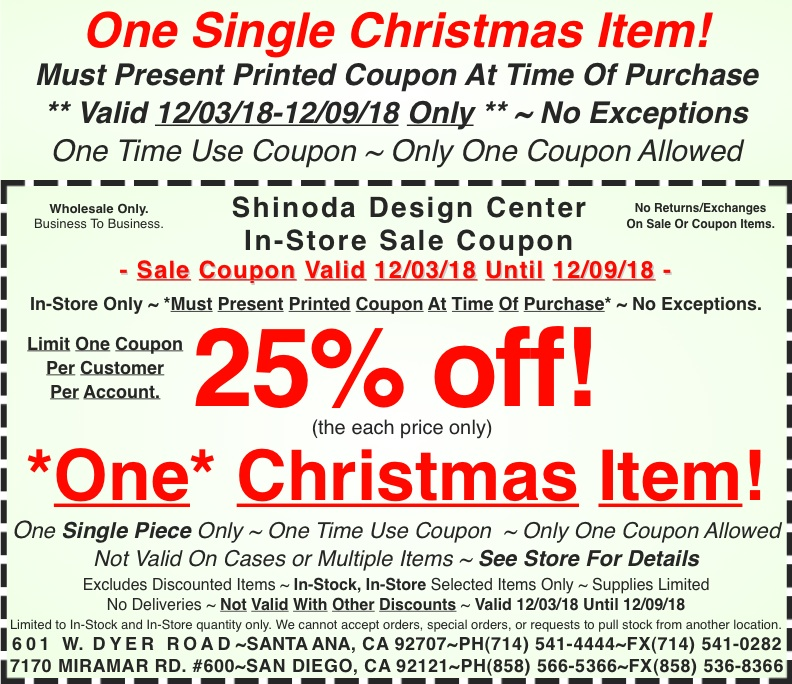 in store coupon 25