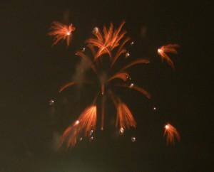 ススキ状の、「ふっ」と止まる花火