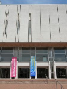 当日の福島県文化センター入り口