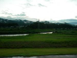 道の駅はなわから見た山の風景。2008-08-17 撮影