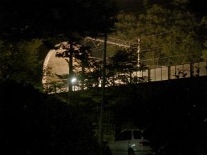 信夫山の新幹線のトンネル