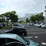 名取市文化会館の外観。写真の順序が逆ですね。