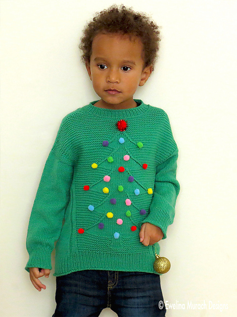 Christmas Tree Sweater by Ewelina Murach