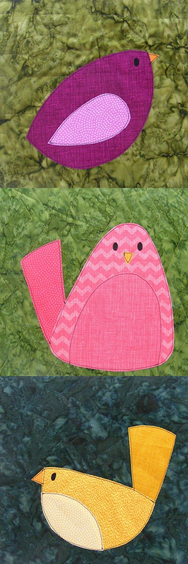 Choosing Fabrics Bird Quilt Shiny Happy World