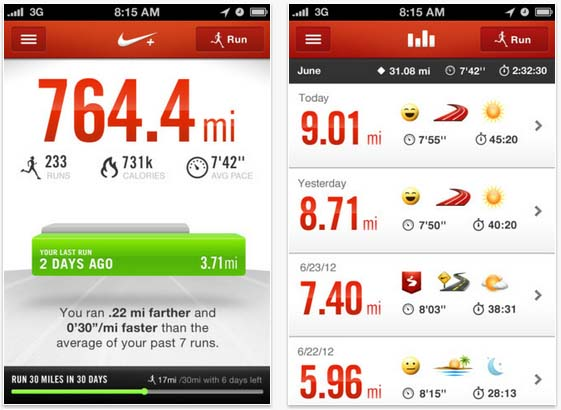 APP OF THE DAY: Nike+ Running the most beautiful app you ever did see - ShinyShiny